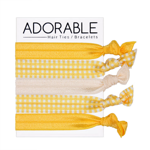 Hair Ties - Gingham (see more colours) - Adorable Hair Ties