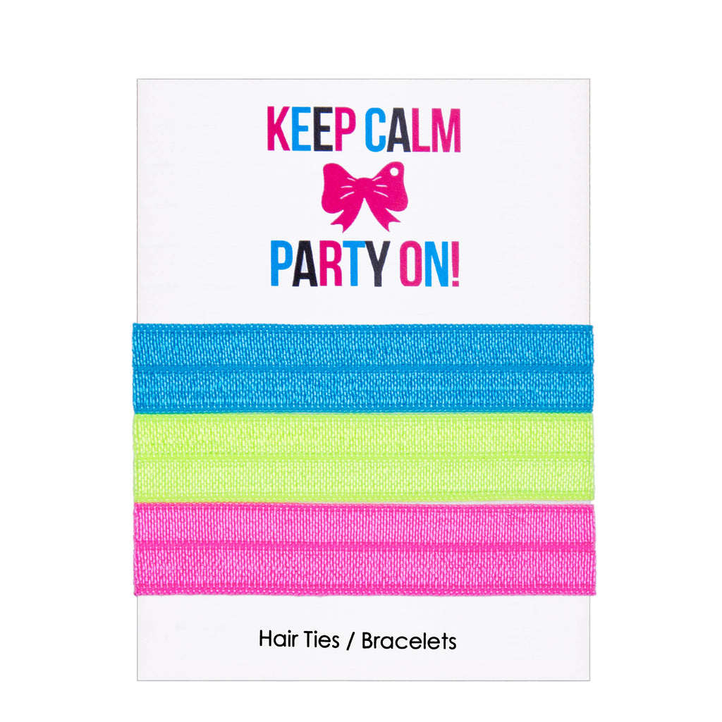 "Adorable Gift Card + Hair Ties  ""Keep Calm and Party On"" - Adorable Hair Ties"