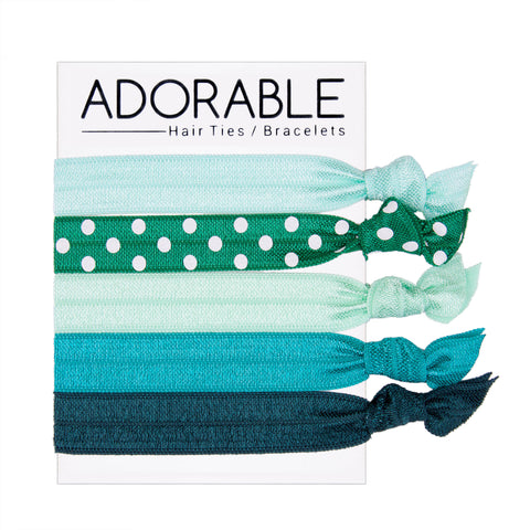 Hair Ties - Teal - Adorable Hair Ties