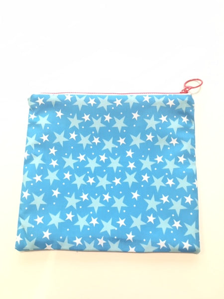 ADORABLE Handmade Zipper Pouch - Blue Star - Adorable Hair Ties