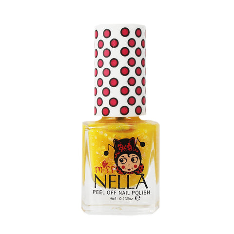 Miss Nella Kids Nail Polish - Honey Twinkles Glitter - Adorable Hair Ties