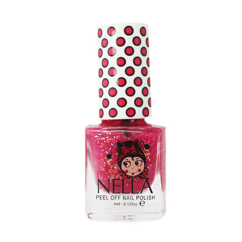 Miss Nella Kids Nail Polish - Sugar Hugs Glitter - Adorable Hair Ties