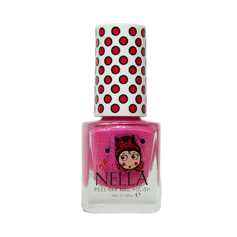 Miss Nella Kids Nail Polish -Tickle Me Pink - Adorable Hair Ties