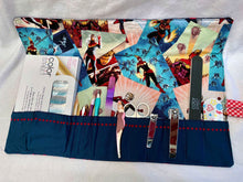 Load image into Gallery viewer, Captain Marvel Essential Roll-Up Kit for Manicure/Pedicure Tools (or more!)