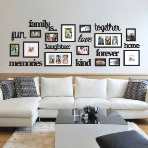 Family Room Wall Collage