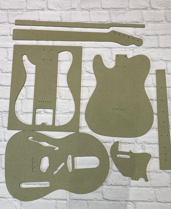 Telecaster Thinline Guitar Templates