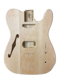 Telecaster HS Thinline Guitar Body - Ash with Maple top 190321TH2