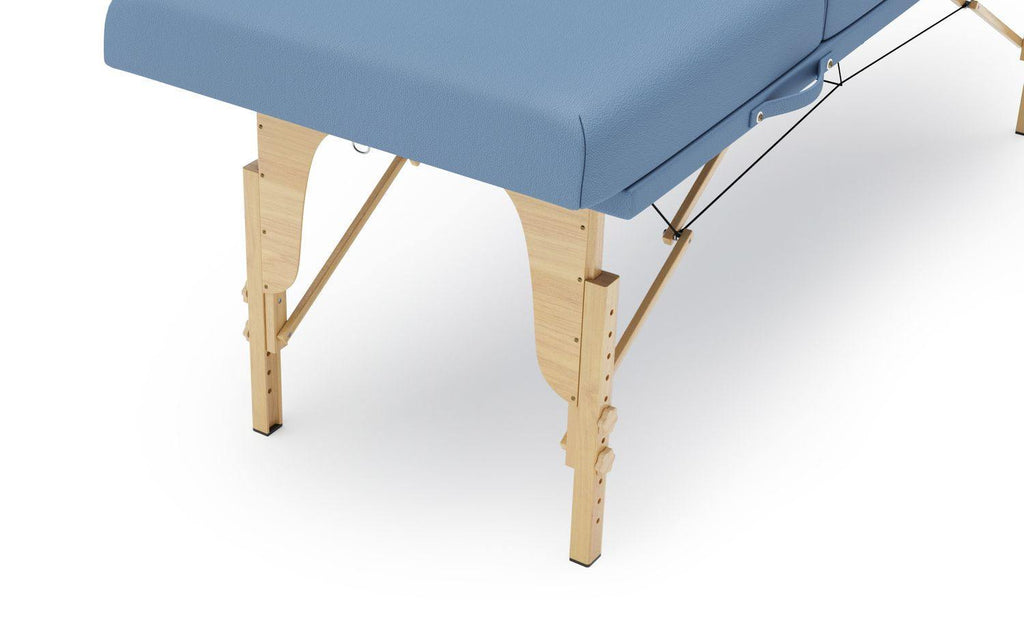 Table de massage 4 zones bleu clair - IsyMarket.ch