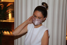 Load image into Gallery viewer, Blush 100% Silk Scrunchie & Mask Set