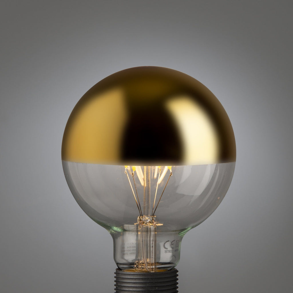 Big Led Filament Gold Top Globe E27 - Edisson