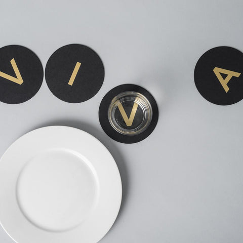 Coaster Set «VIVA» Gold