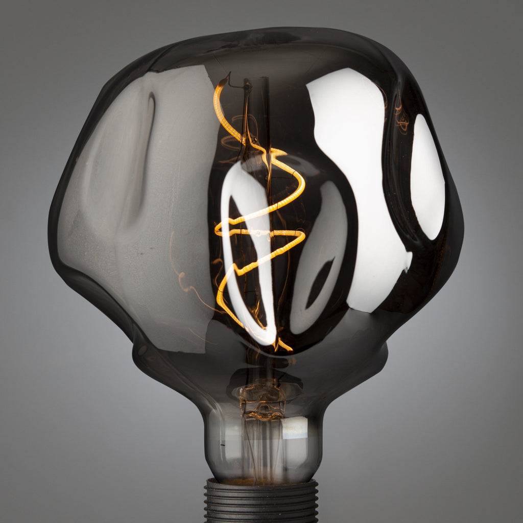 Giant Led Filament Spiral Globe Smoked Bumped E27 - Edisson