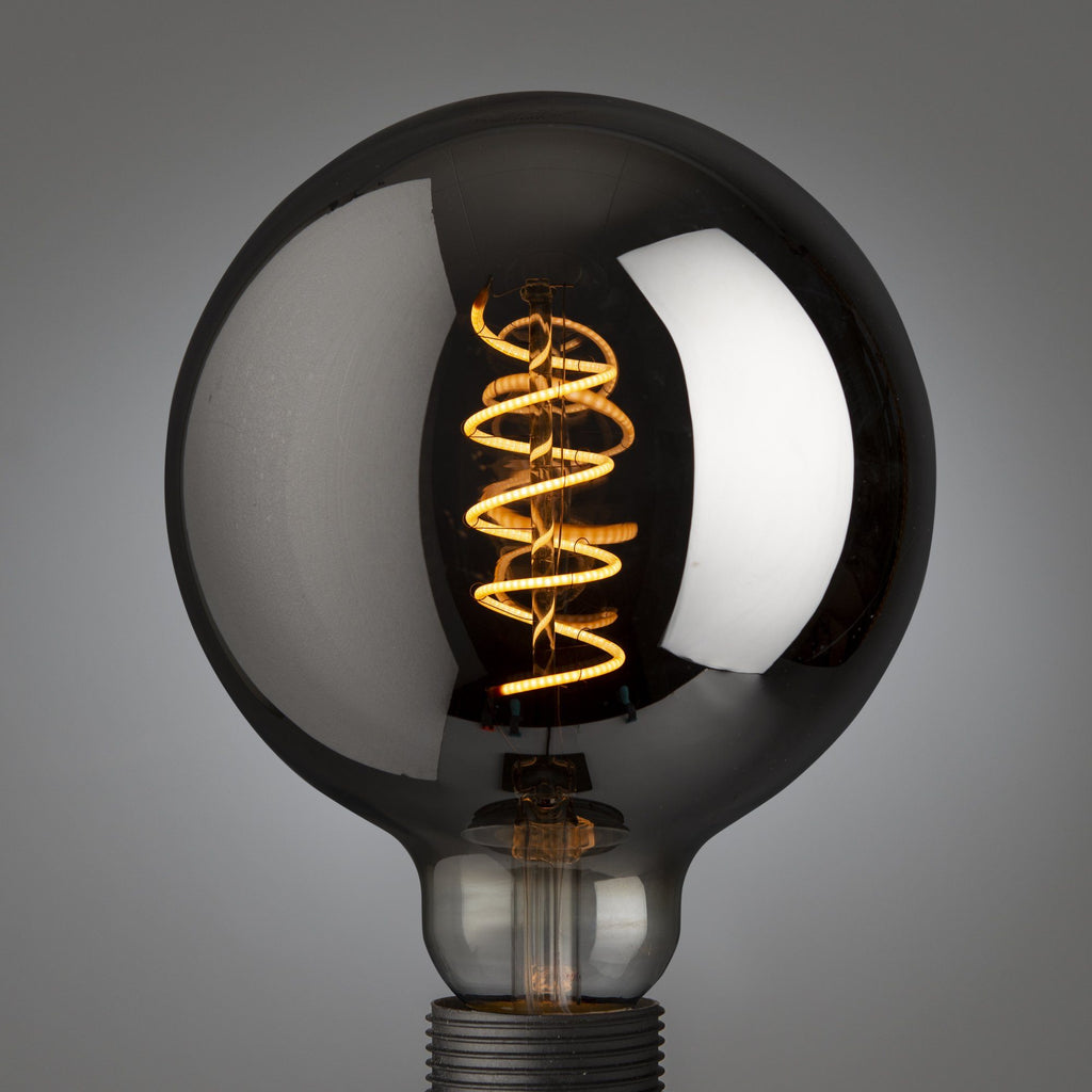 Giant Spiral Led Filament Globe Smoked