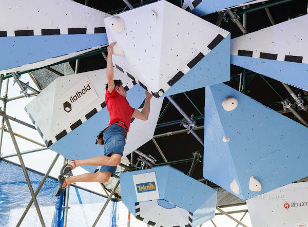 Rock climber Kevin Celommi