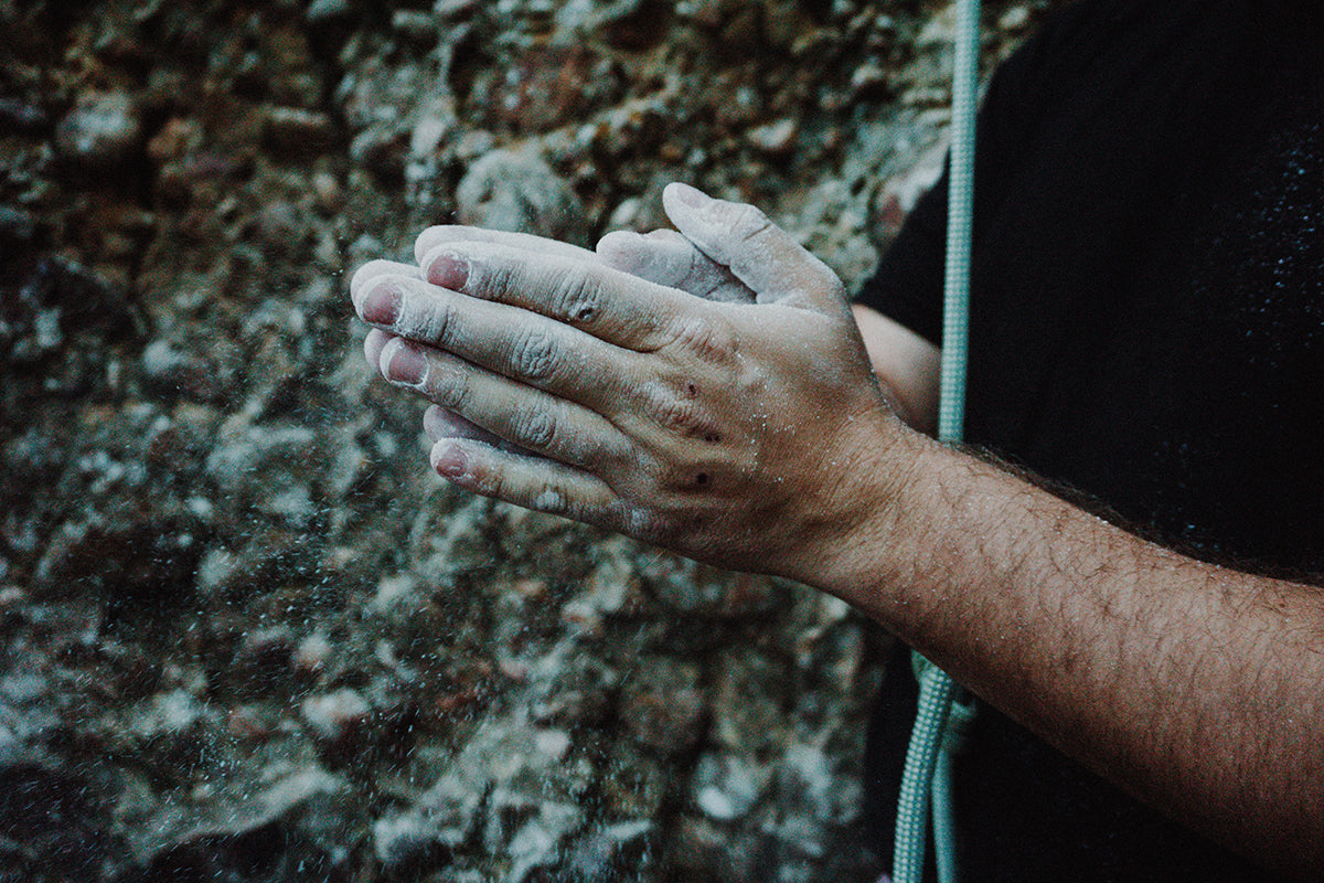 Hands with chalk