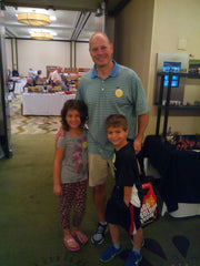 Ken with his kids at a Chicago Toy Solider Show