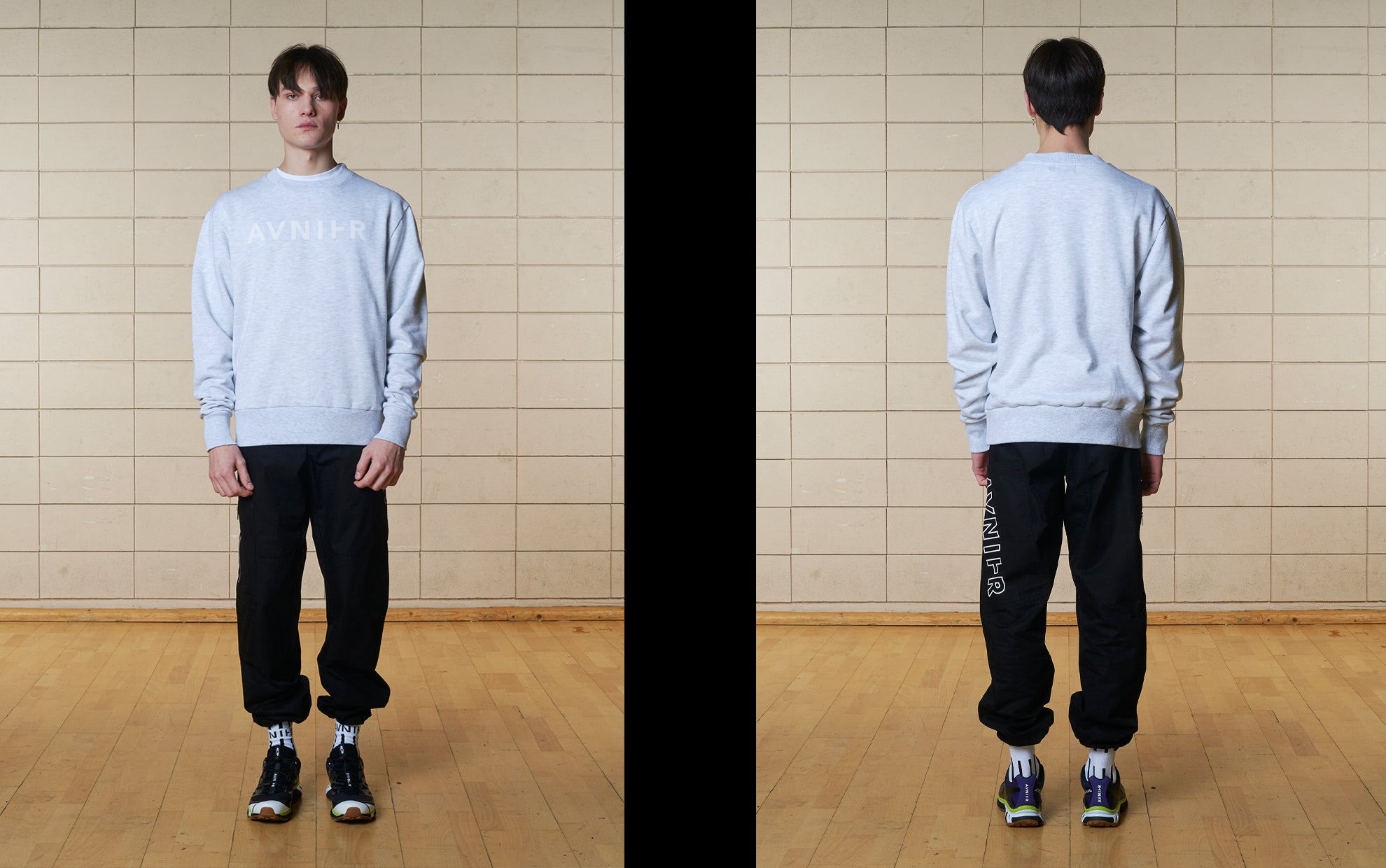banner Basic Heather Grey Crewneck