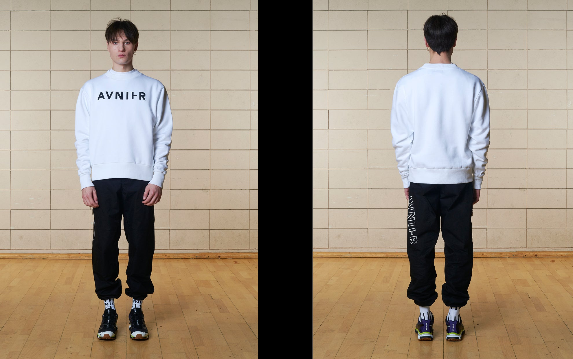 banner Basic White Crewneck