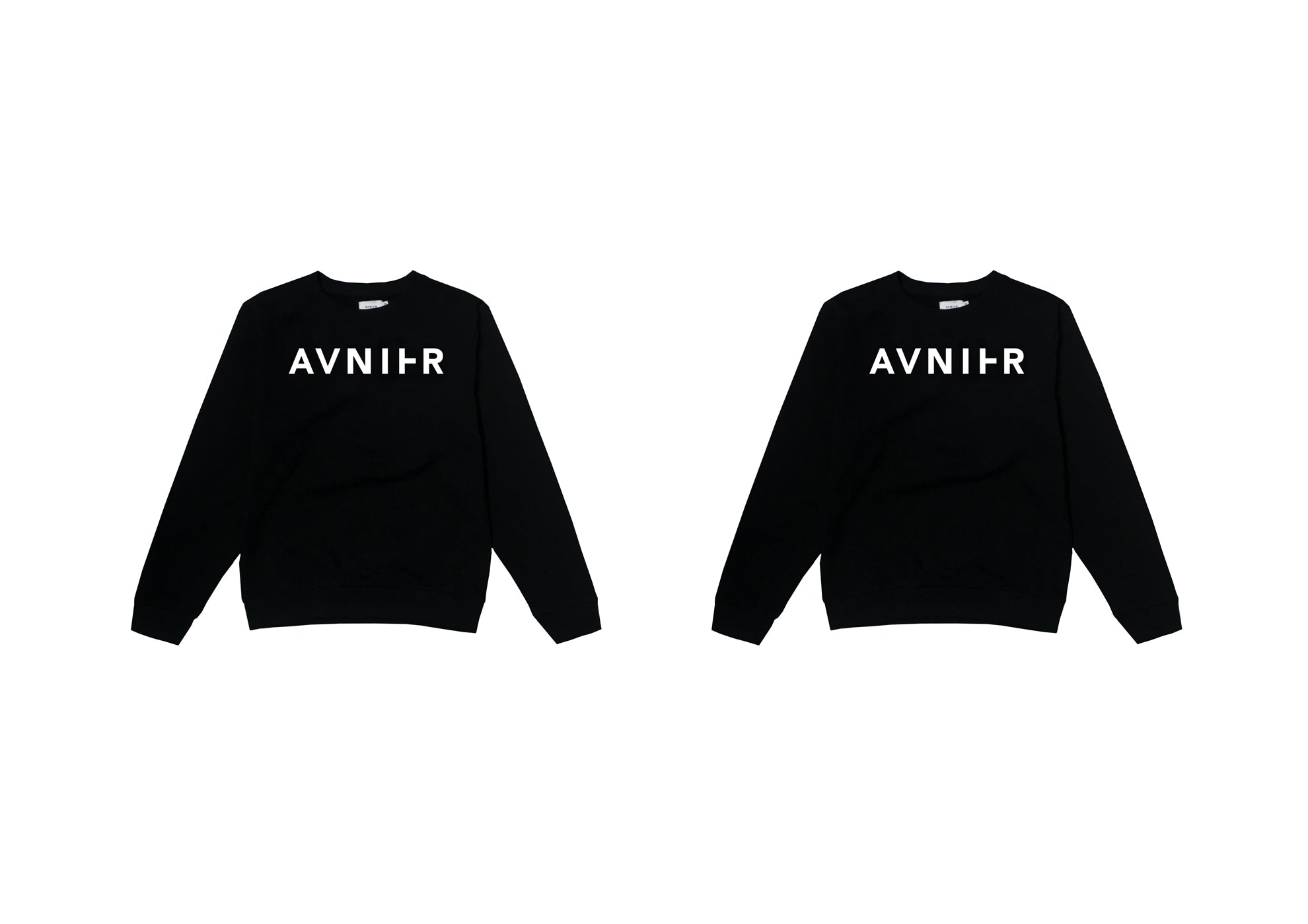 banner Basic Black Crewneck