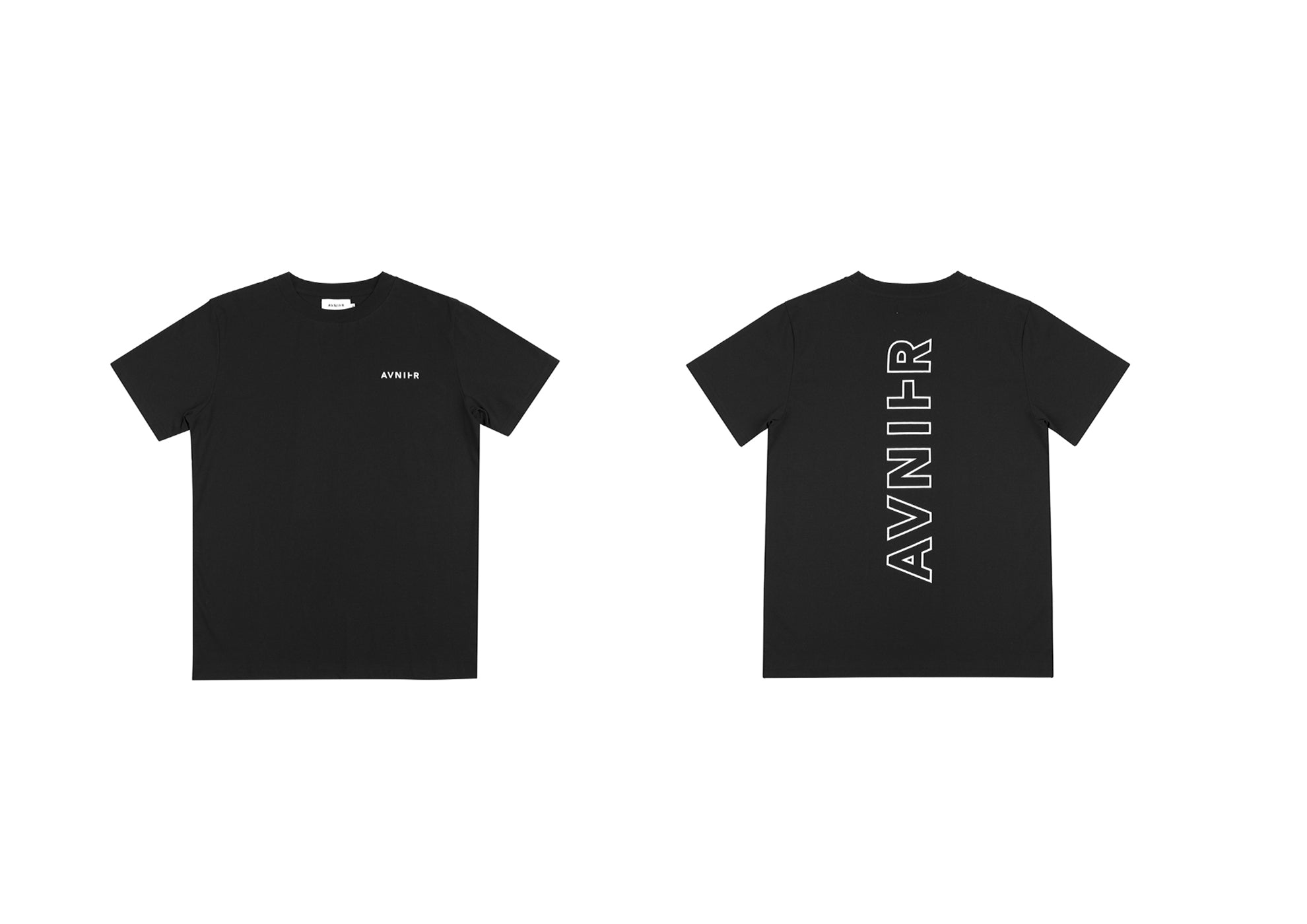 banner Vertical Back Black Tee