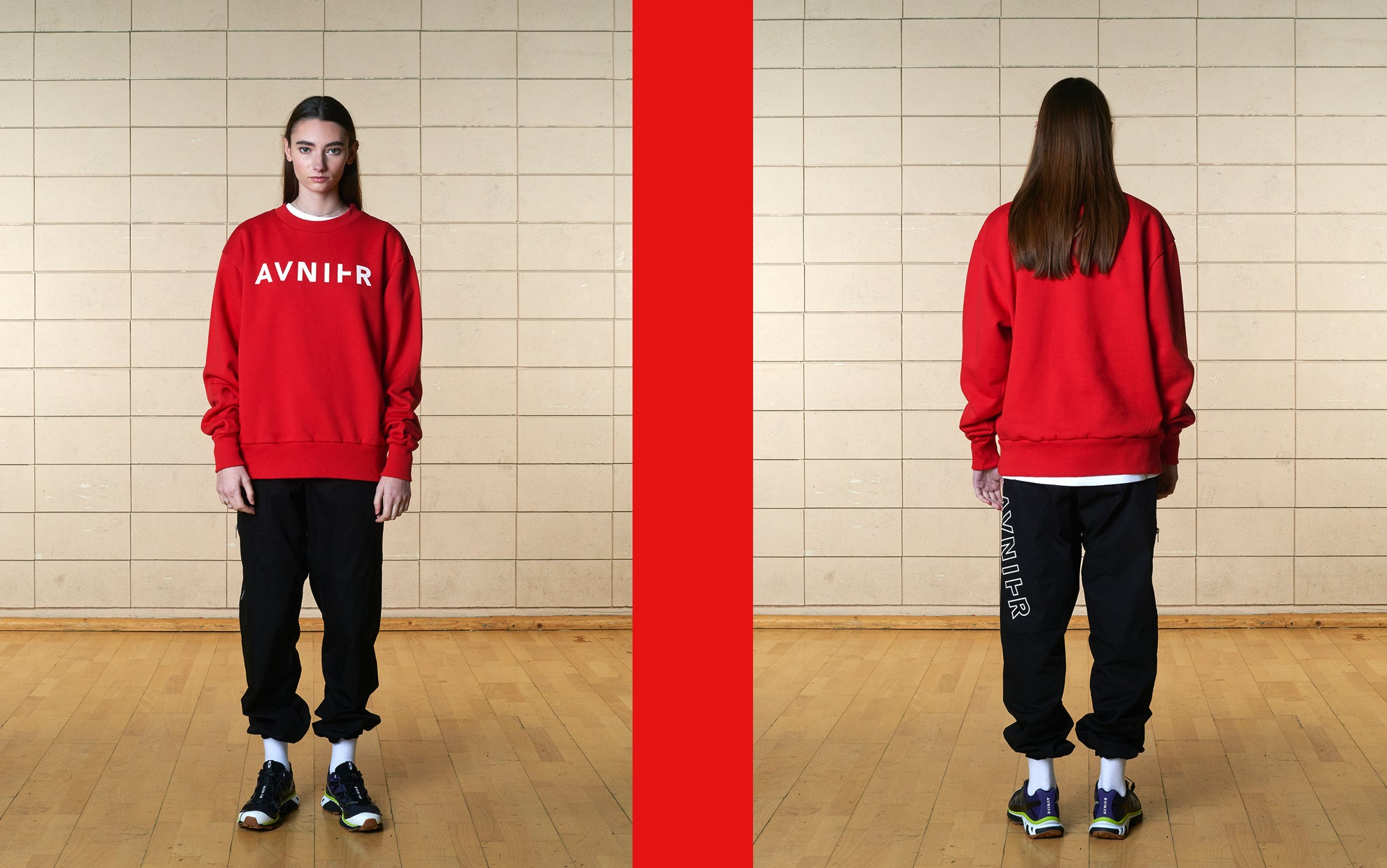 banner Red horizon crewneck