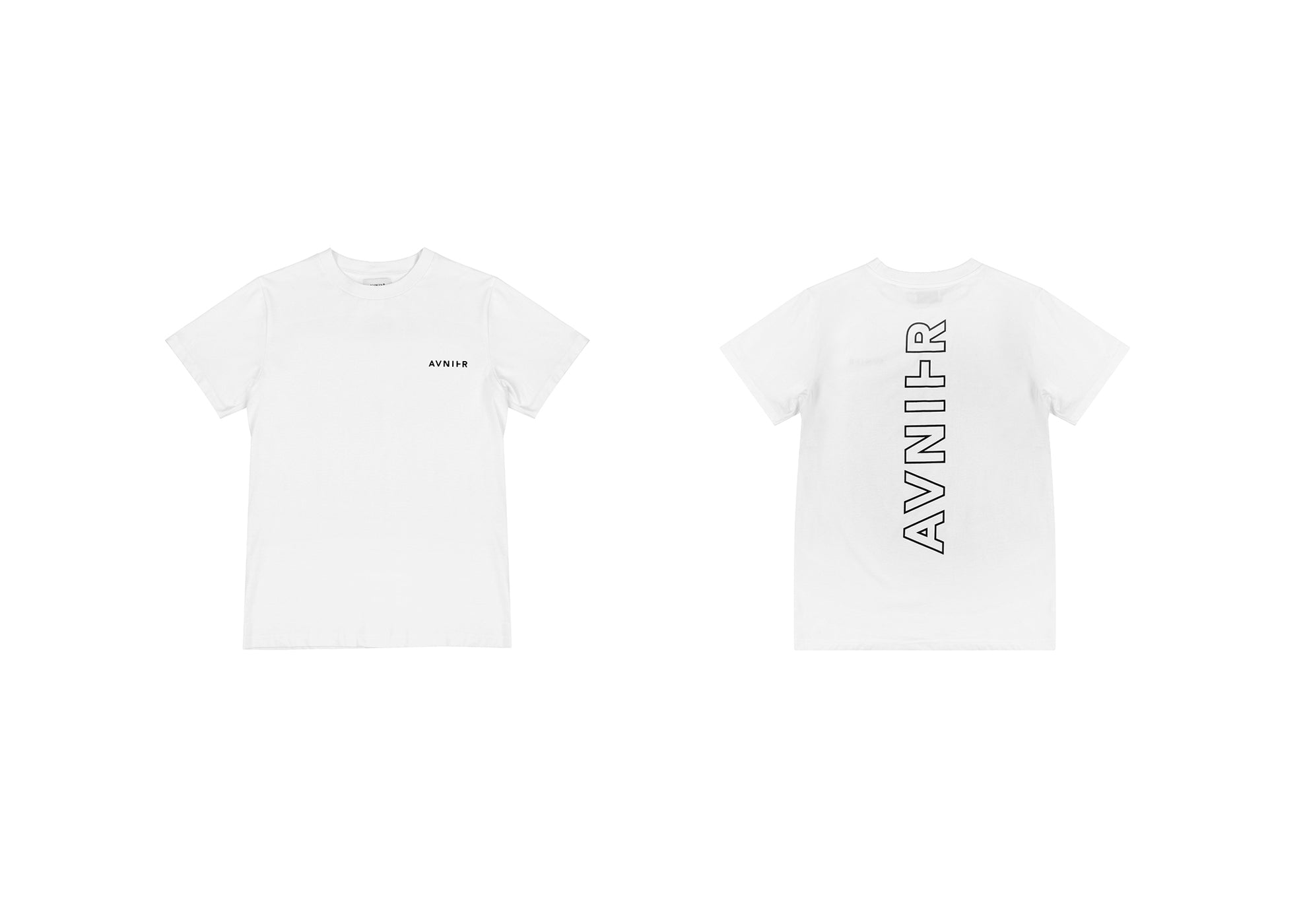 banner Vertical Back White Tee