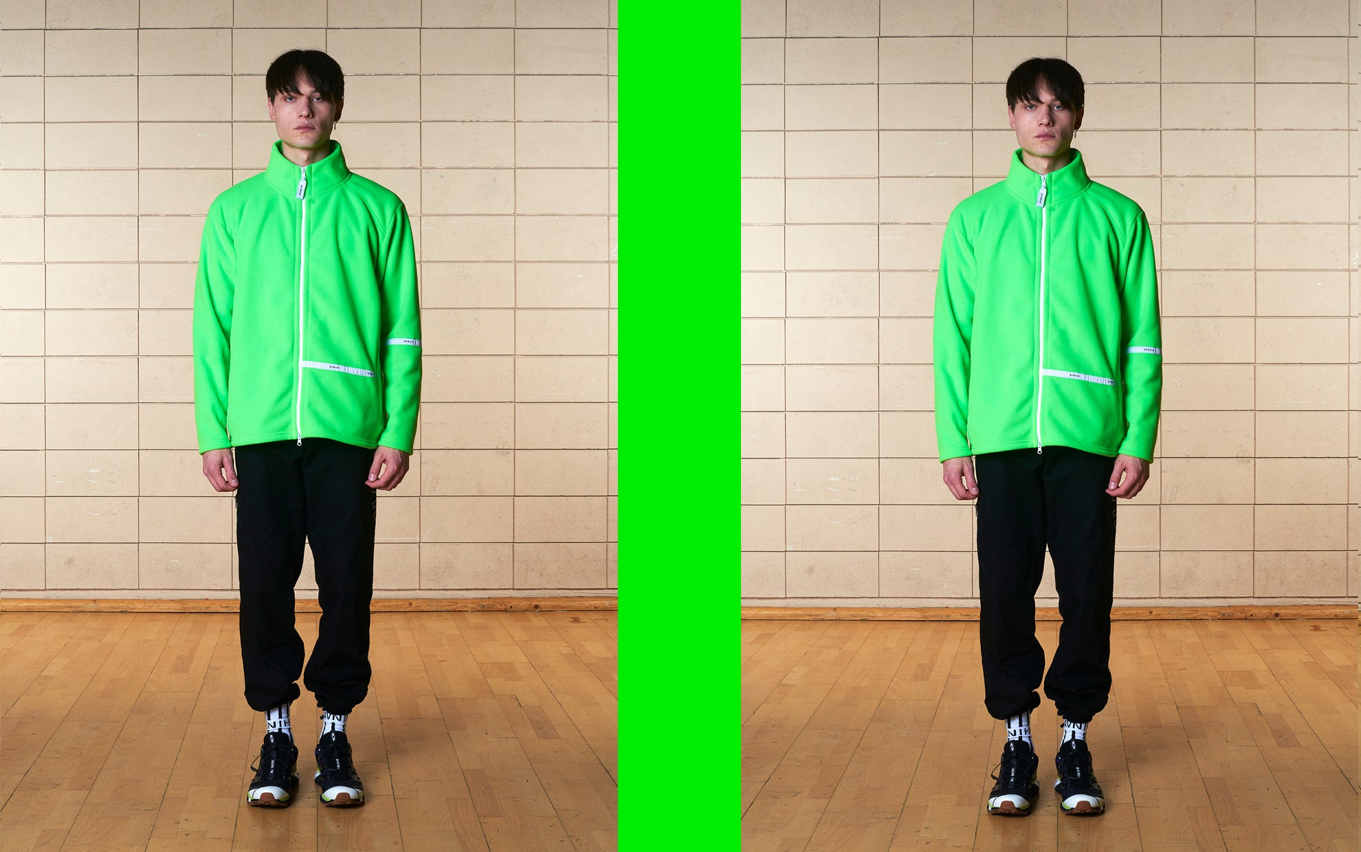 banner Line polar radioactive apple jacket