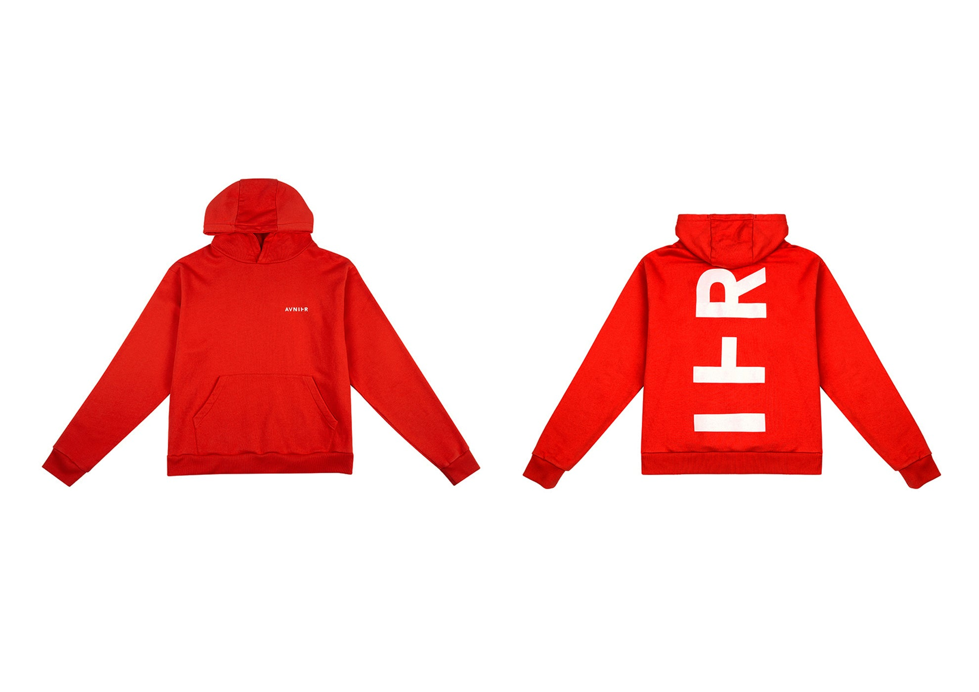 banner Red full vertical hoodie