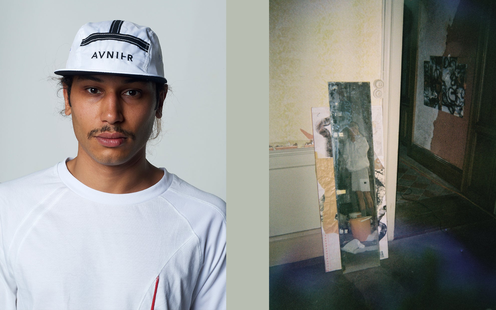 banner White Transparent 5 Panel Cap