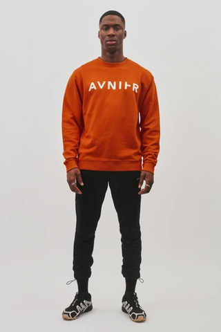 Horizontal Logo Crewneck <br/>Organic Cotton <br/> Toxic Orange