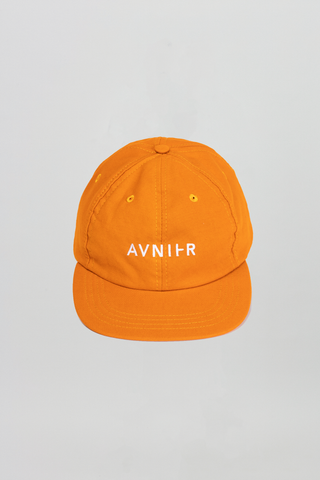 AVNIER Horizontal Organic 6 Panel Cap Toxic orange ALPHA FW20