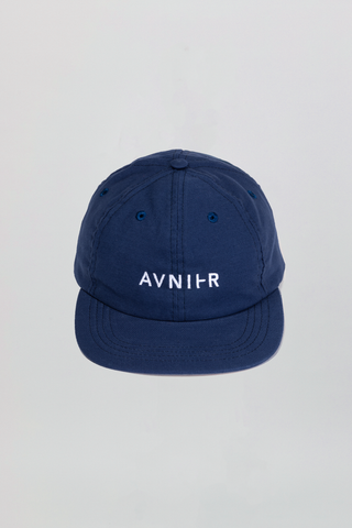 AVNIER Horizontal Organic 6 Panel Cap Dark blue sea ALPHA FW20