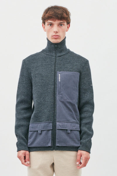 Avnier x Saint James - Veste de marin zippée 3 poches 100% pure laine vierge WOOLMARK® - Zip YKK - Softshell en laine - Fabriqué à Saint James en France - Partenariat The SeaCleaners