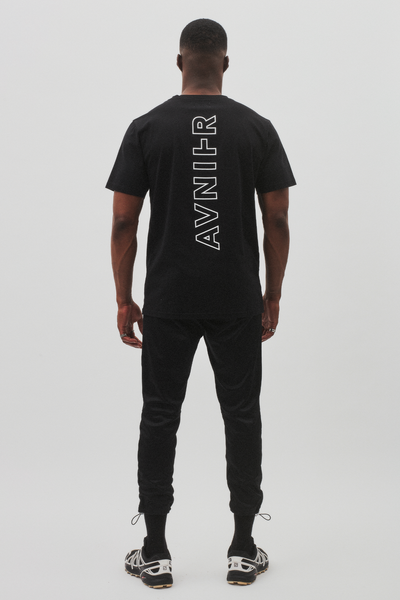 Vertical Logo T-Shirt <br/>Organic Cotton <br/>Black Deep Space