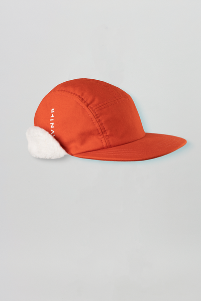 Sherpa Fleece cap <br/>Organic cotton <br/>Toxic Orange