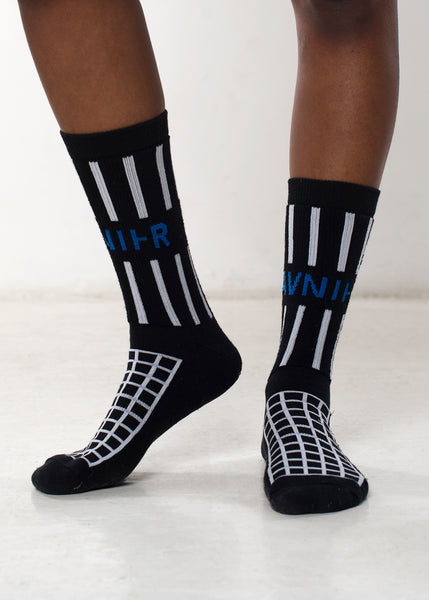 Black grille socks side
