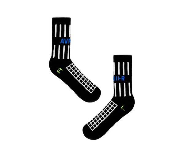 Black grille socks packshot