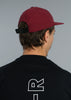 Low burgundy cap - back