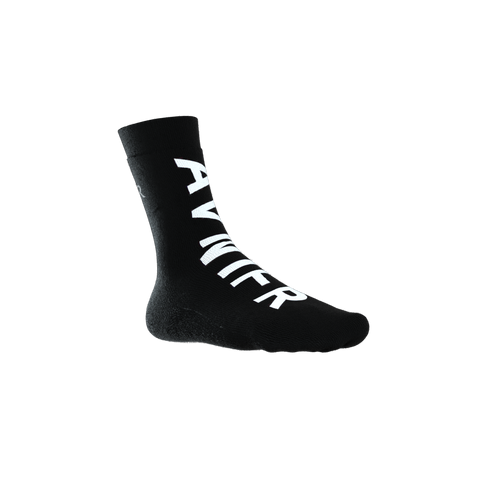 Black full logo socks