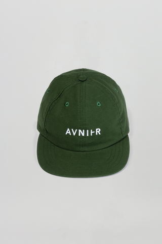 AVNIER Horizontal Organic 6 Panel Cap Dark green forest ALPHA FW20