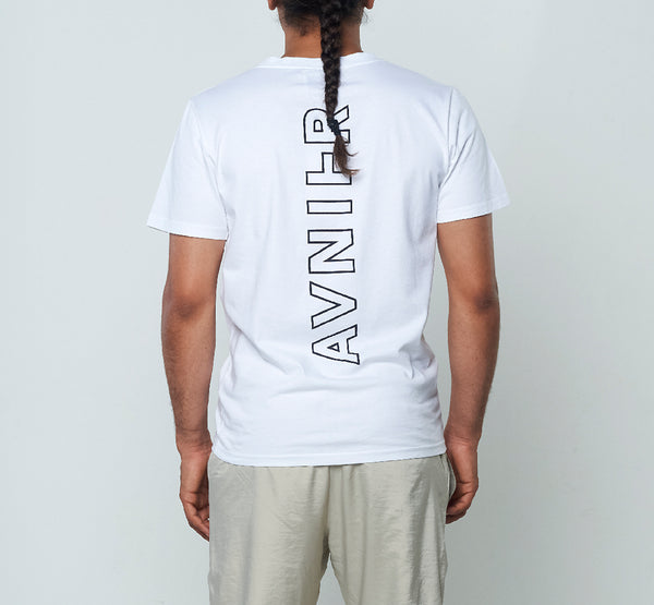 Vertical Back White Tee