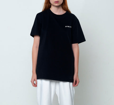 Vertical Back Black Tee