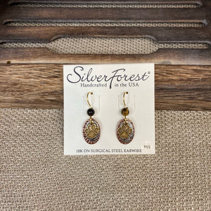 Paw Print on Ovals Earrings