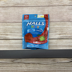 Halls Kids Cherry Throat Pops