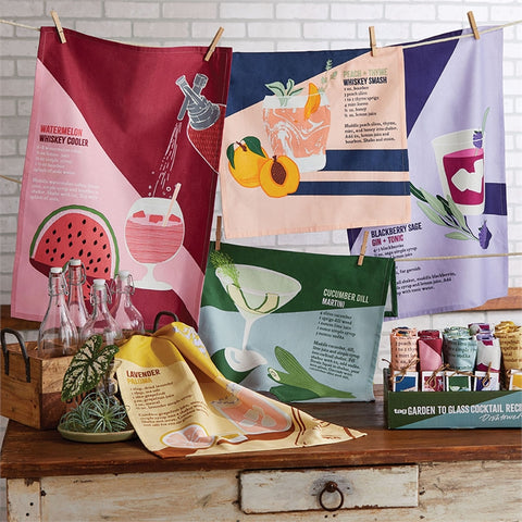 Garden to Cocktail Recipe Dishtowels (5 designs)