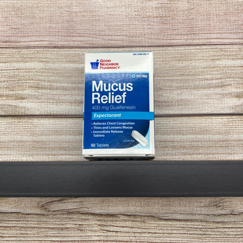 Mucus Relief (400 mg) 50 tablets