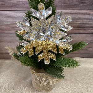 Silver and Gold Snowflake Ornament