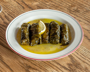 Hand rolled Smokey Eggplant Dolmades