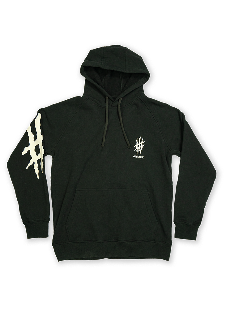 Lobster pullover hoodie product photo by Lobster snowboards