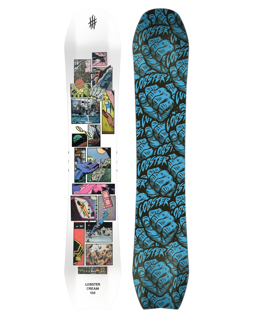 Lobster Cream park snowboard product photo 2020 2021 collection lobster snowboards